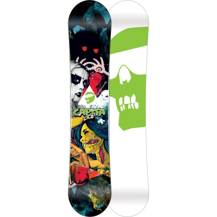 Snowboard Capita designed the Ultrafear FK Snowboard to help you rule the park and scare the hell out of everyone everywhere else. Like its graphics, the Ultrafear FK represents Capita's best freestyle technology from across its line to give you a true terrain-slaying weapon. - $314.97