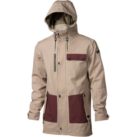 Snowboard The Cappel Riot Jacket may look like it's made from rigid tweed fabric, but this slim-fit, street-style shell offers two-way stretch and reliable waterproofing power for fully shreddable function and awesome mobility. - $99.98