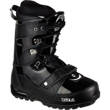 Snowboard Celsius designed the CLS Snowboard Boot for the intermediate-advanced all-mountain rider who needs one boot (a pair, actually) to shred the whole mountainfrom the pipe to the backcountry. The Claw Lace lock, power straps on upper and lower shell, and another power strap on the liner all work together to allow you to adjust your fit, feel and stiffness for whatever terrain you happen to be riding, whatever the snow is doing, or whatever mood you happen to be in. - $134.98
