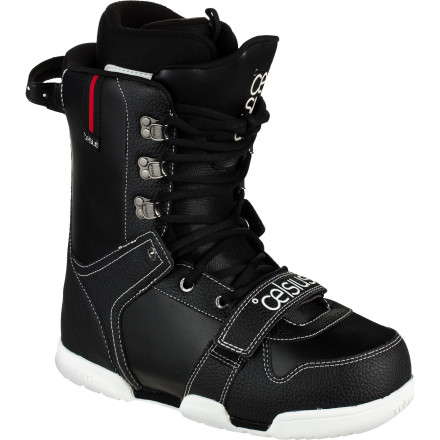 Snowboard The Celsius Xenon Snowboard Boot brings new flexibility to your park riding with traditional lacing that can be adjusted any number of ways for a truly custom fit. Add to that the Xenon's soft flex and incredible board feel, and you have a recipe for total park domination. - $94.98