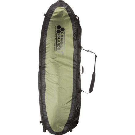 Surf Channel Islands designed the Travel Light Quad Surfboard Bag to protect your precious surf cargo during travel so you don't end up at your destination with broken, dented, or dinged boards. - $199.96
