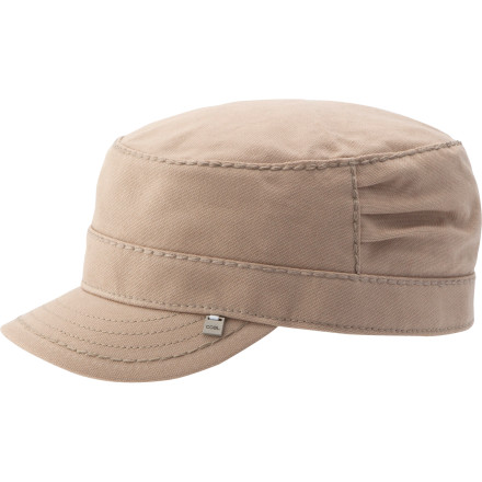 The Coal Women's Considered Colby Hat boasts military styling with understated feminine touches for a hybrid style. Side pleats and textured stitching adorn this simple and classy piece for all your concert-going, riot-inciting needs. - $24.95