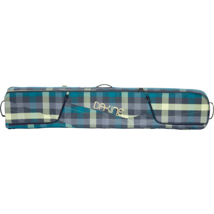 Snowboard Grab the Dakine Womens Low Roller Snowboard Bag before you hop a plane in search of the freshest pow. This fully-padded bag protects your deck on the rough ride from check-in to baggage claim, and the exterior-access boot pockets keep your gear all in one place. - $112.46
