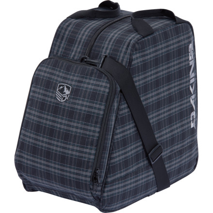 Snowboard Whether you ride the pow wave on one plank or two, the DAKINE Boot Bag will safely store your boots while you chug champagne in first class. That is, as you chug champagne in your dreams while passed out on your neighbors shoulder  in coach. - $35.96