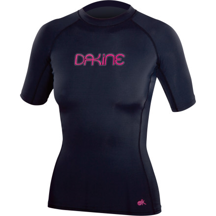 Surf The DAKINE Women's Drift Rashguard will keep you surfing longer due to the stretchy Lycra material. You will also have more style points than you ever had before. Especially if you pretend surfing is a video game and you can collect actual style points along the way. Your enemies can be barneys in water, sharks, and some nasty coral. - $17.37