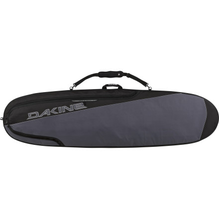 Surf Your surfboard deserves a cush ride to the beach; pack it into the DAKINE Daylight Deluxe Noserider Bag. Quarter-inch foam surrounds your surfboard when it rides in this DAKINE bag. This board bag's bottom heat-reflective material deflects the sun's rays, so your surfboard won't get feet-blistering, wax-melting hot after a couple hours on your roof rack or the sand. A corrosion-proof zipper opens and closes smoothly even after seasons of exposure to salty air and water. The Noserider has a slot for your board's fins and wax, plus padded handles and a padded shoulder strap for your comfort. - $95.96