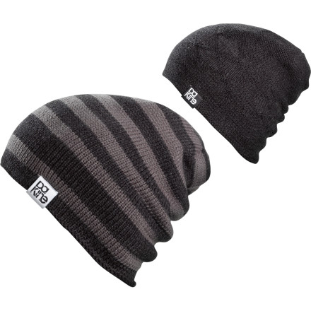 Surf After you wreck yourself in a rail jam, turn around the DAKINE Flip Flop Reversible Beanie and take off your coat so people maybe won't recognize you during the next round. - $24.95