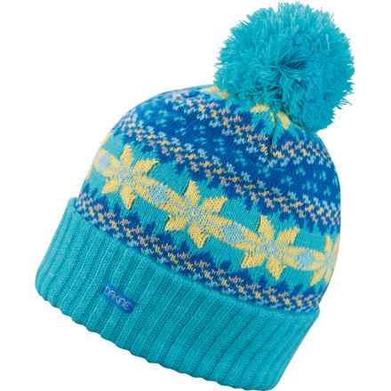 Snowboard Its name is Margaret, but its friends call it the DAKINE Maggie Pom Beanie. By an incredible coincidence, the Maggie beanie is a perfect match for the DAKINE Maggie Scarf. Go figure. - $11.97