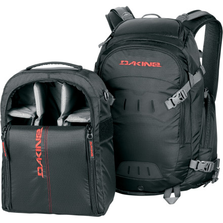 Snowboard The DAKINE Sequence Backpack is the babysitter that you've been looking for to take care of your DSLR and up to five lenses. the removable Camera Block can be pulled out of the Sequence and put in a larger bag if needed or if you simply want to use the Sequence as a regular pack. - $199.95