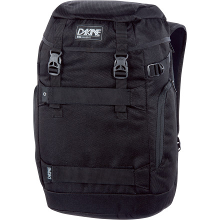 Camp and Hike The DAKINE Burnside Backpack gives your laptop all-the-way-across-town protection with retro style and straps for your skate. - $32.97