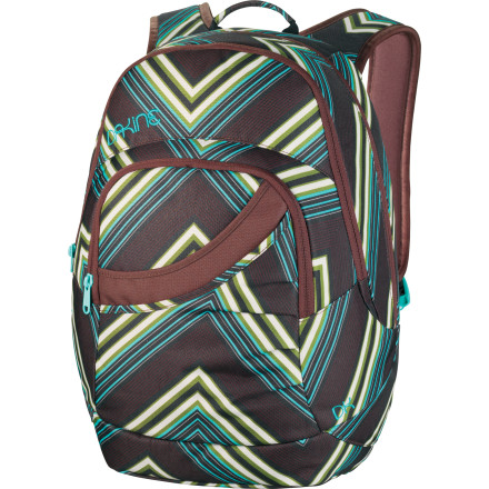 Camp and Hike Makeup, a few snacks, a sweet beverage, your cell phone, your agent's cell phone, and plenty of jewelry: the Dakine Women's Crystal Backpack gives you an organized place for just about everything you'll need for a day on campus. - $45.47