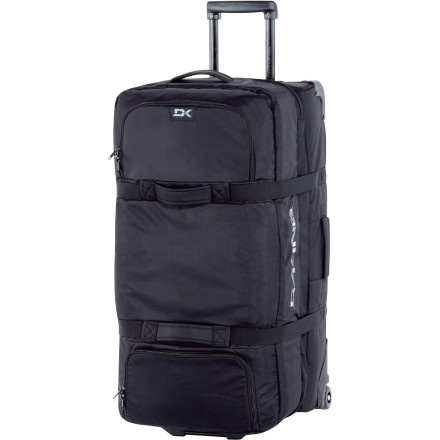 Entertainment The cavernous 6,000-cubic-inch DAKINE Split Roller Gear Bag gobbles your possessions with the voracity of a hyena at the end of the dry season, so you can forget about carefully selecting exactly what you need before your big vacation. - $143.47