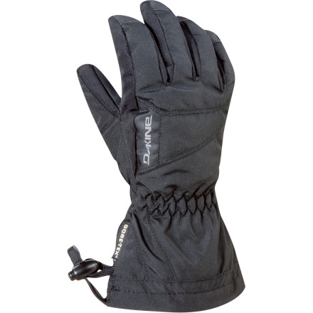 Ski Utilizing some of the finest materials known to man, the DAKINE Kids\222 Avenger Jr. Glove gives your grom top-notch performance on the mountain. The Gore-Tex insert and Weathershield shell prevent even a drop of moisture from sneaking in, while the toasty Thermoloft insulation prevents the biting cold from sending your young one in early. - $29.96