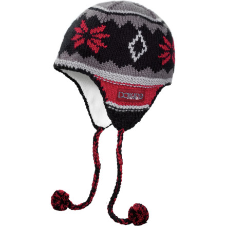 Entertainment Your little ones will love the bright colors and warm earflaps of the DAKINE Peruvian Jr Beanie, and they'll be absolutely thrilled about the Peruvian's sophisticated, adult pom-lessness. - $16.77