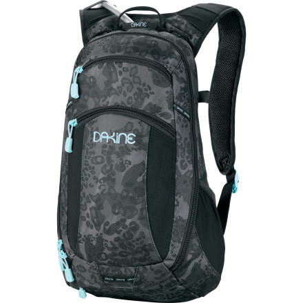 MTB Pushing your limits on the trail is a lot easier if you have something to drink. The DAKINE Women's Amp 12L Hydration Pack was built for serious female athletes to carry just the essentials, such as repair kits, media players, sunglasses, and maybe some snacks. The low-profile design and women-specific contoured harness means the Amp 12 won't sway as you're turning corners or climbing up rugged terrain. Other features include a secure helmet carry, a deployable rain cover, and a removable waist-belt. - $83.97