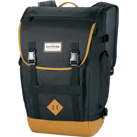 Camp and Hike The DAKINE Vault 23L Backpack serves lean, tight organization, and it carries your gear for the daily grind in easy comfort. This bag is awesome for walking or biking to school or work. - $89.95