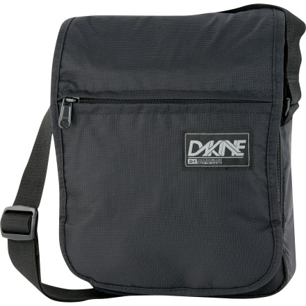 Entertainment Throw the DAKINE Frankton Shoulder Bag on when you need to haul the essentials but don't want to lug your full-sized backpack. This compact carry is just the right size for your tablet, your wallet, and a few of those energy bars you're addicted to. - $23.96