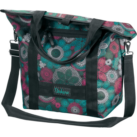 Entertainment The DAKINE Kelsey Purse falls in line somewhere between tote and gym bag with its generous 26-liter volume and versatile carrying options. And while sturdy material and and reinforced straps are all good, the Kelsey Purse also looks good so you can take it anywhere, even when it's full of sweaty workout gear. - $22.77