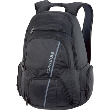 Camp and Hike If you're looking for a feature-loaded surf pack that won't give you a hernia when fully stuffed, the DAKINE Interval Wet/Dry Backpack is your answer. 33 liters of storage space, a waterproof wetsuit pocket, and an insulated cooler bag carry everything you need (and then some). - $79.95