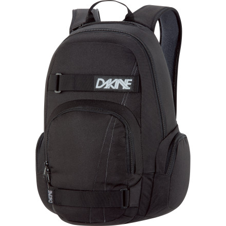 Camp and Hike The DAKINE Atlas Backpack delivers basic, bombproof storage for your skateboard and the rest of your stuff. As long as the rest of your stuff doesn't include an elk carcass or something. - $31.47