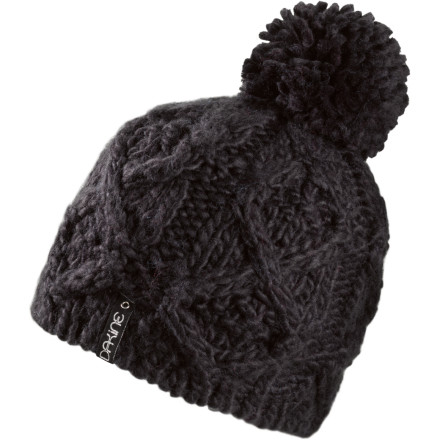 Snowboard The Dakine Women's Mia Pom Beanie keeps you warm on cold days, plus the over-sized pom and hand-knit cable pattern will have you looking sharp, too. - $29.95