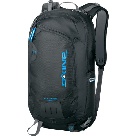 Camp and Hike The DAKINE Altitude 25L Backpack is not only loaded with the features you'll need for an all-day backcountry tour, it also hooks up to the ABS Vario Base Unit (sold separately) so that if you purchase the avalanche-safety airbag system, you'll have some extra storage. - $165.59