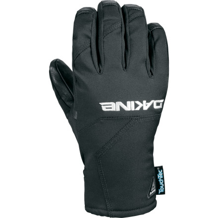 Snowboard The low-profile DAKINE Raptor Glove not only offers reliable weather protection thanks to a Gore-Tex insert and PrimaLoft insulation, it also features specially treated leather that lets you use your phone's touchscreen without ever exposing your fingers to the elements. - $50.97