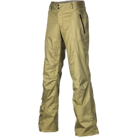 "Snowboard You want to be toasty-warm, dry as a bone, and look fabulous, and the Dakine Jade Pant thinks that's perfectly sensible. It says, ""How does Primaloft insulation, 15K-rated weather protection, and inimitable Dakine style sound"" Finally, you feel understood. - $99.58"