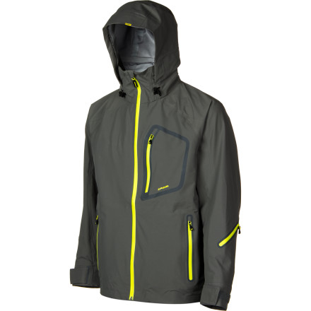 Camp and Hike The DAKINE Clutch Jacket piles on high-tech features so you'll stay dry in deep powder playgrounds and on heavy storm days. All you have to do is zip up in this heavy-duty shell, hike to a prime stash, and take pictures so you can make your friends jealous. - $159.58