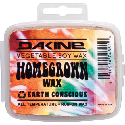 Surf Increase your balance in the karma bank when you use DAKINE Home Grown Soy Wax to make your board go faster. Rub it on or take the time to hot wax for better results but get more speed either way. - $13.46