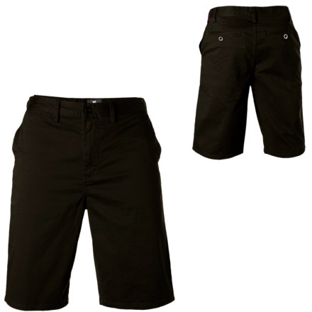 You may be covered in tats, but you're quite the classy dresser with the DC Men's Chino Short. Its 22-inch outseam shows just enough of your fire-breathing dragon located on your right leg, while the Chino's mellow look makes you approachable and doesn't scare off your new girlfriend's parents. - $26.40