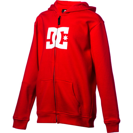 Motorsports The DC Boy's Star Full-Zip Hooded Sweatshirt will be his favorite sweatshirt from the second he first puts it on until he grows out of it. And when that happens, rest assured that DC makes this same sweatshirt for grown-folks as well. - $33.60