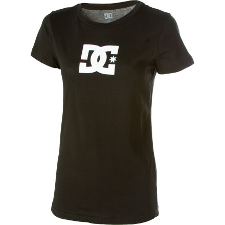 No idea what to wear to class Make an all-star-worthy move and pull out the DC Women's Tstar T-Shirt. A classic DC logo and classic baby-ribbed style combine to give you the ultimate casual tee. - $17.00