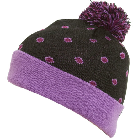 The DC Dodge Pom Beanie won't protect your kid's noggin from flying rubber balls, but it will protect it from the cold. - $12.00