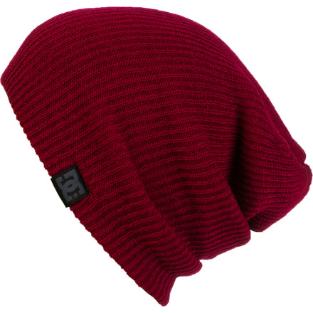Entertainment Whether you're rocking the egg head or just like to rock your steeze with a slouch, the DC Yepa Beanie is for you. Throw it on to beat the cold or rock it while you court the hottie down the way. - $14.00