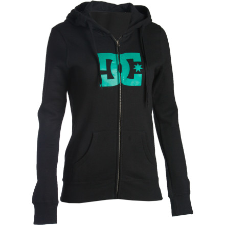 The DC Women's Tstar Full-Zip Hooded Sweatshirt knows all about keeping you cozy and warm while you stay glued to the T.V. and catch up on the latest vampire drama. - $32.50