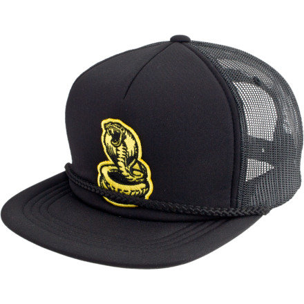 Part cobra and part rat, the DC Cobrat Trucker Hat can chew through walls and poison its victims with a single strike. You're not an intended victim though, so it's ok to touch the Cobrat. - $10.40