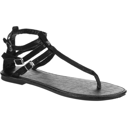 Entertainment Slide your feet into your DC Women's Georgina Sandals when you want the airy feel of flip-flops but you don't want to look like you just woke up. These sandals keep your feet happy and basking in the sun, and they still carry a refined, classy look that you can rock whether you are walking through the park or going out to dinner. - $20.80