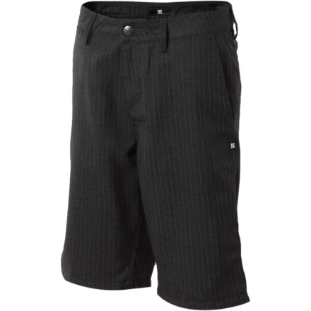 Motorsports Slide into the DC Boys' Marino Straight Shorts when you need something nice enough for school and comfortable enough for the skatepark after. - $19.80