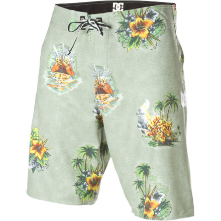 Surf Delivering stretchy comfort, quick-drying material, and high performance are some of the DC McGarrett Board Short's favorite hobbies, but what it really loves is getting pitted  so pitted. Whhhaaaapppoooww! - $36.00
