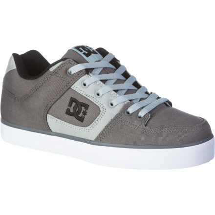 Skateboard With a low-pro vulc construction and lightly padded tongue and collar, the DC Pure TX Skate Shoe is both super comfortable and totally skateable. - $48.00