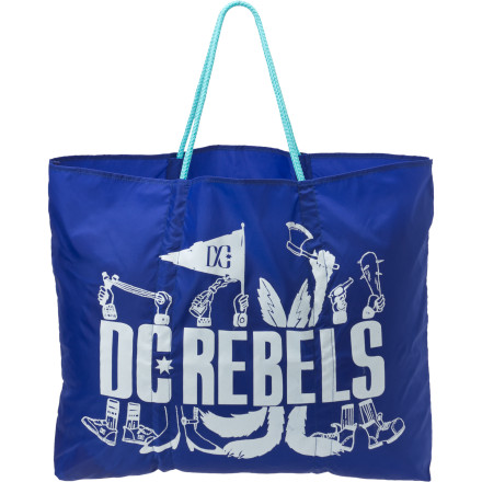 The DC Gramercy Beach Tote conveniently holds swimsuits, towels, extra clothes, and even lunch for a long day at the beach or anywhere you choose to explore. - $17.00
