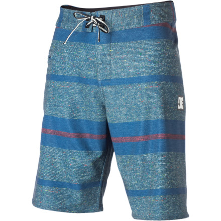 Surf The DC Apache Board Short features an awesome tonal printed stripe pattern and four-way stretch fabric for supreme slashability. - $37.20