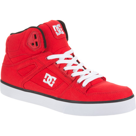 Skateboard The DC Spartan Hi WC Skate Shoe features a canvas upper and a classic vulcanized construction for a fresh look with tons of board feel. - $64.00