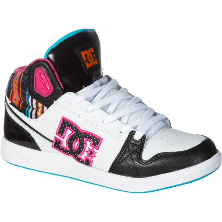Skateboard Whether you're a park regular or you just want to harness the bold style of these shoes for everyday wear, the DC Women's University Mid Skate Shoes serve up comfort, skate-ready tech, and a fierce look. - $35.00