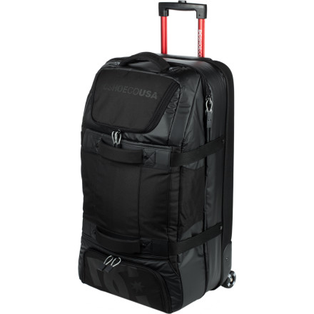 Entertainment The DC Fuselage Rolling Gear Bag keeps your life organized on those long trips away from home, with more than enough room to bring back a few smuggled bottles. - $280.00