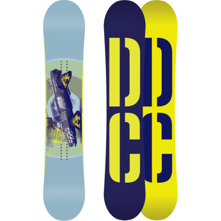 Snowboard The DC Tone Wide Snowboard delivers all-mountain versatility in a package big enough to prevent toe-drag for even the biggest boots. The Anti-Camber profile gives it a loose feel, while the Camber Core construction keeps things lively by pre-arching the wood and fiberglass before adding it to the flat area of the board. Playful in the park, solid on the steeps, the Tone does it all and doesn't require that you get a second job to be able to afford it. - $240.00
