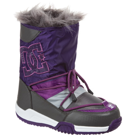 Snowboard Slip out of your snowboard boots and into the DC Lodge Boot and head to the village for apres drinks with the ladies. The water-resistant nylon upper and stylish design means you won't get cold feet, whether it's walking in the snow or approaching that cute boy by the bar you've had your eye on. - $49.50