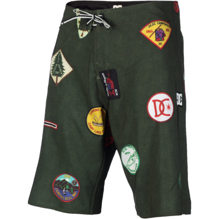 Surf The DC Camper Board Short lets you wear all the cool badges without having to do out all the hard work to earn them. - $36.00