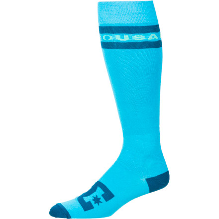 Snowboard When your socks are right, everything's right. The DC Women's Apache Lite Snowboard Sock keeps you dry, free of sweat build-up, and yes, feeling right. - $9.10
